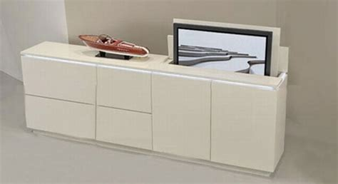 tv cabinet that hides tv hidden televisions for ultra geeky homes hometone