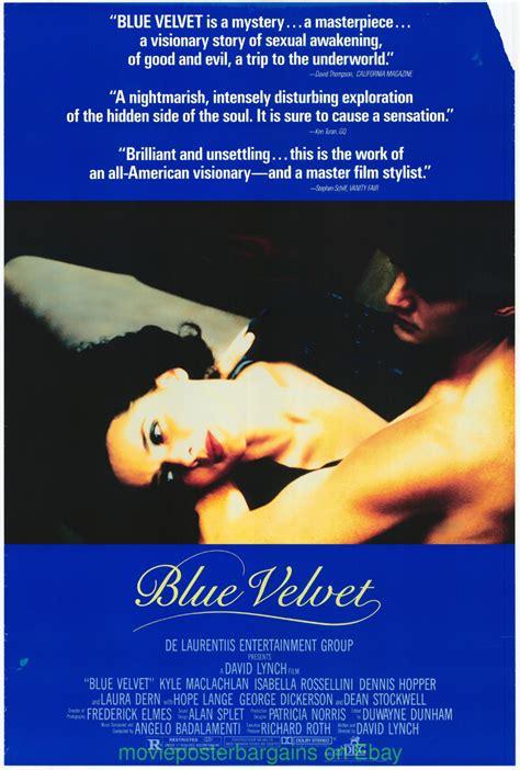 film blue original blue velvet movie poster original 27x40 damaged david