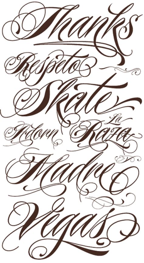 tattoo script lettering fonts best home decorating ideas