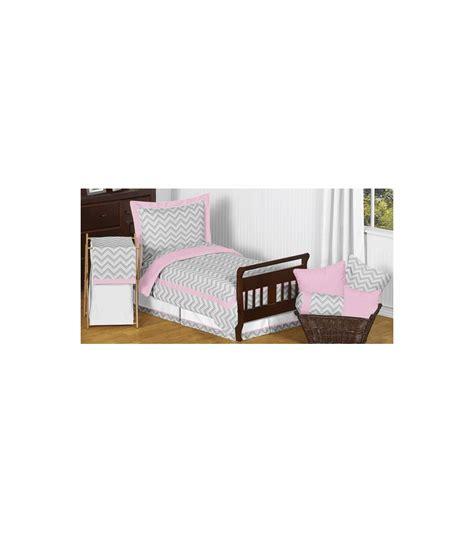 pink toddler bedding set sweet jojo designs zig zag pink grey chevron toddler