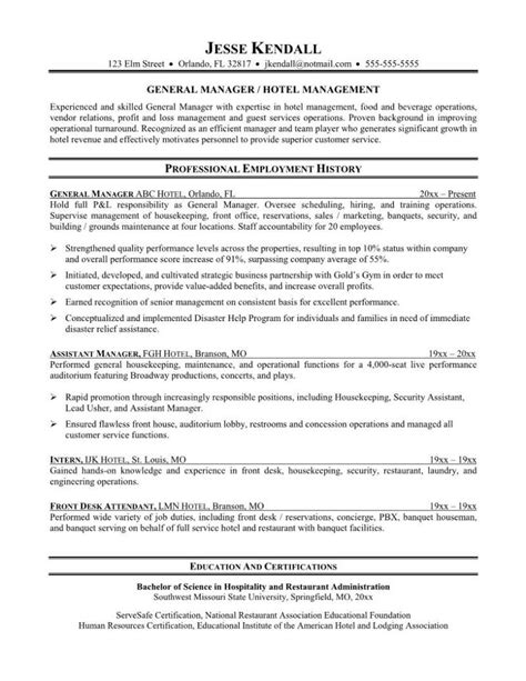 Resume For Front Desk Front Desk Clerk Resume Resume Badak