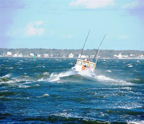 small fishing boat in rough seas boatus cruising logs tom neale