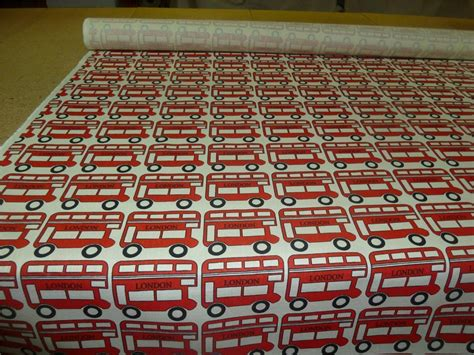 upholstery fabrics london london red bus buses heavy cotton print fabric free