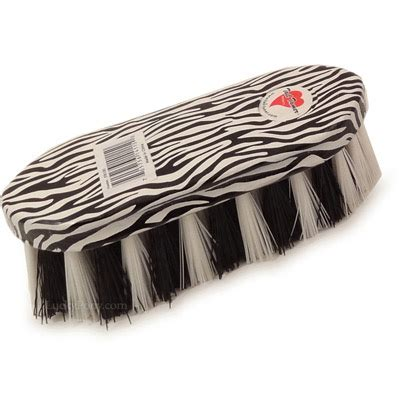 zebra pattern brush zebra print synthetic dandy horse brush