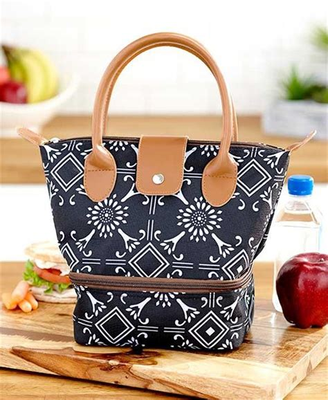 Pw Totebag Large Tas Totebag purse style insulated 2 compartment cooler lunch tote bag