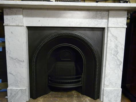 Victorian Carrara Marble Fire Surround   124MS   Old