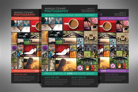 Photo Collage Flyer Template Flyer Templates On Creative Market Collage Flyer Template