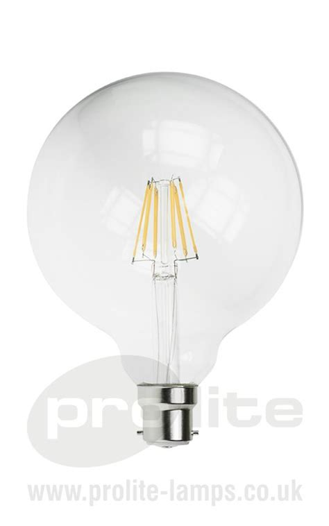 g125 6w led filament globe lamps 2700k bc amp es
