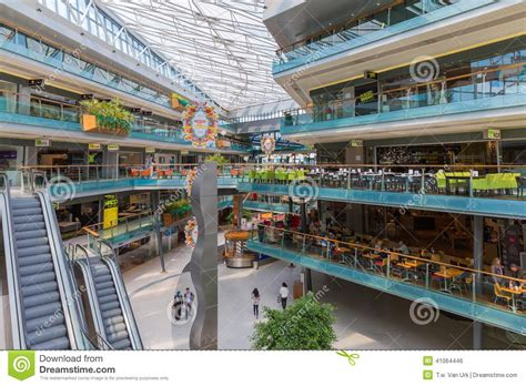 design on stock villa arena people shopping in a big dutch indoor shopping mall