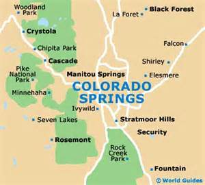 map of colorado springs airport cos orientation and