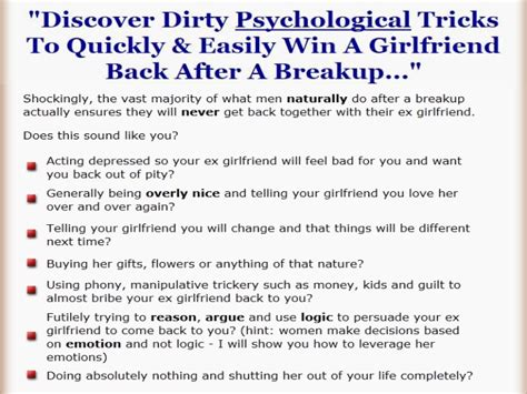 win a back after a breakup