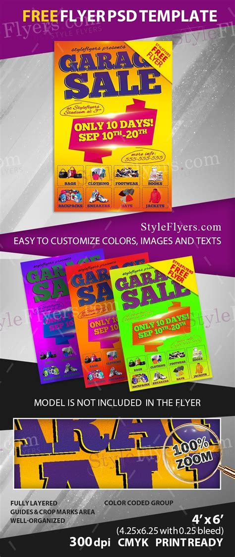 Garage Sale Free Psd Flyer Template Free Download 11103 Styleflyers Free Caign Flyer Template