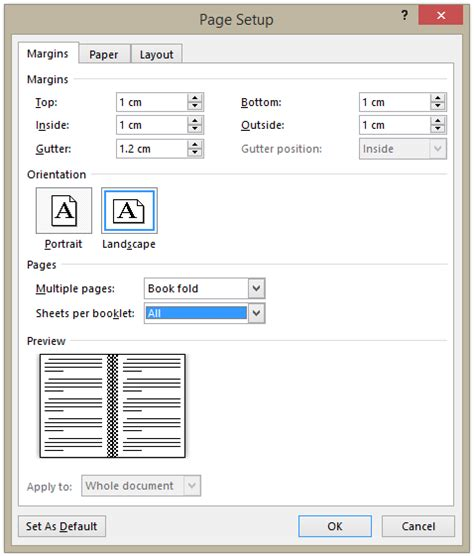 How To Make A Booklet With A4 Paper - how to print an a5 booklet on a4 paper word 2013