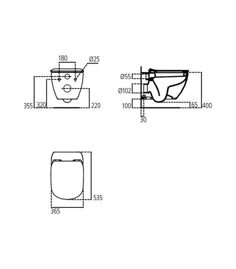vaso sospeso ideal standard vaso sospeso aquablade bianco ideal standard tesi t354701