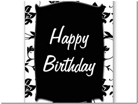printable birthday cards black and white black and white happy birthday card printable pictures