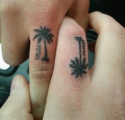 finger tattoo palm tree 11 fantastic tree tattoos designs for fingers