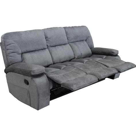 triple recliner sofa theo casual triple reclining sofa with pillow arms
