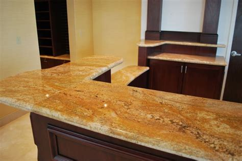 Gold Granite Countertops by Imperial Gold Granite Installed Design Photos And Reviews