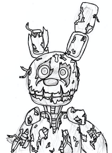 Fnaf 4 Coloring Pages by Fnaf Coloring Pages Free Printable Coloring Pages
