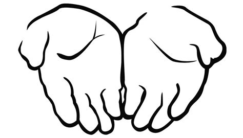 coloring page of hands best open praying hands clip art images 187 free vector art
