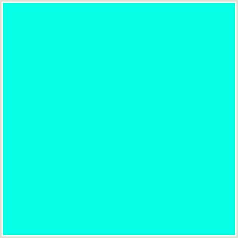 the color cyan 05ffe6 hex color rgb 5 255 230 blue green cyan