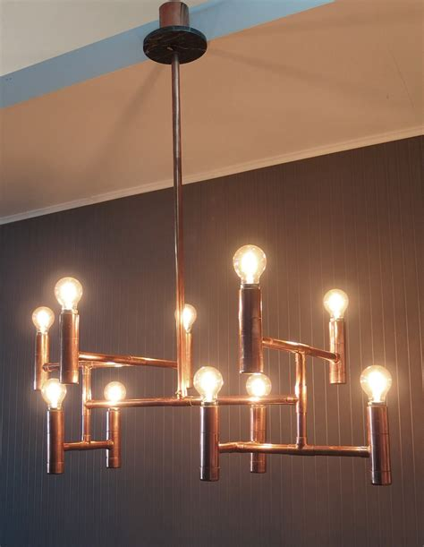 copper lights vintage industrial copper pipe chandelier dining