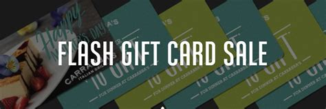 Carrabba S Gift Card Deal - awesome deal buy 50 get 50 bonus at carrabba s save 40 more with amex offer