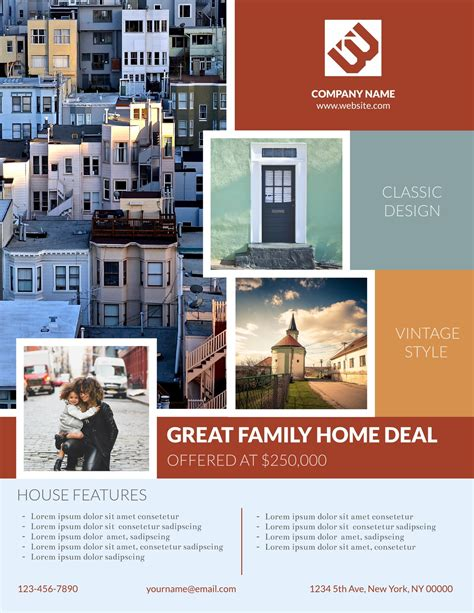 real estate for sale flyer template real estate 4 free real estate flyer templates exles lucidpress
