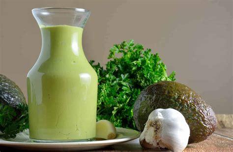 avocado green goddess dressing  healthy homemade salad