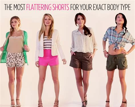 best clothes for your body type flattering hairstyles the most flattering shorts for your exact body type