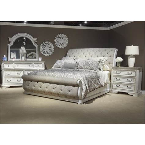 Magnolia Manor Bedroom Set by 244 Br22hu Liberty Furniture King Upholstered Sleigh Bed