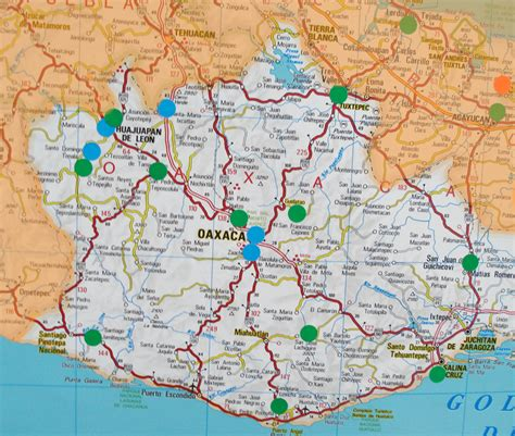 mapa de oaxaca mexico oaxaca mexico mapa