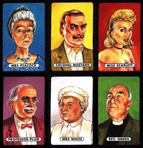 Suspects Original Board cluedo characters costumes search sims house ideas search costumes and