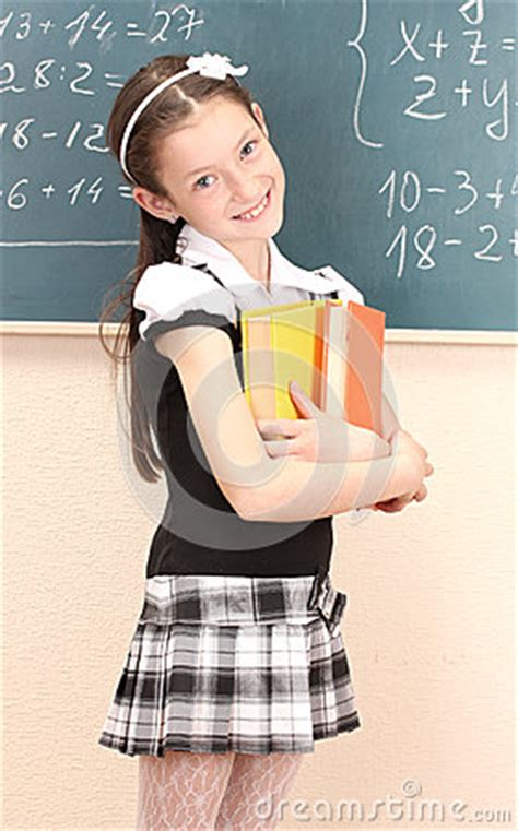 school girl uniform stock photos pictures royalty free beautiful girl in school uniform with books royalty free