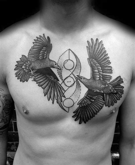 huginn and muninn tattoo 60 odin s ravens designs for huginn and