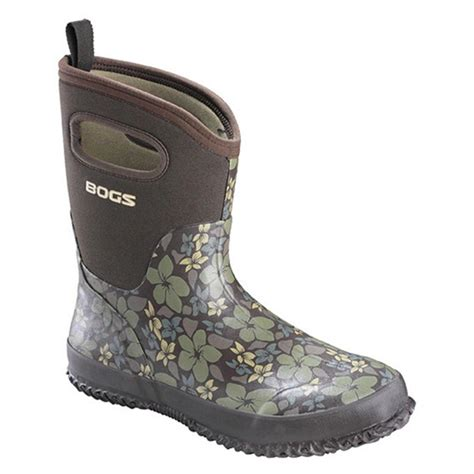 bogs boots womens s bogs 174 classic mid hibiscus 152683 rubber