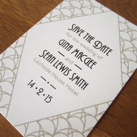 Card Press Original deco save the date card by lovat press