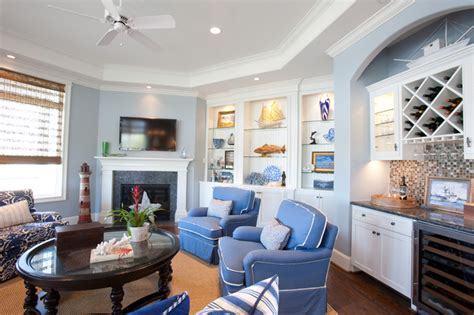 beach vacation home traditional family room houston  creative touch interiors
