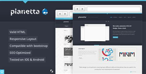 drupal theme add js planetta responsive drupal theme theme for u