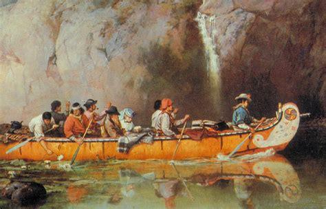 boat trader montreal hudson s bay company fur trade canoe artist frances anne