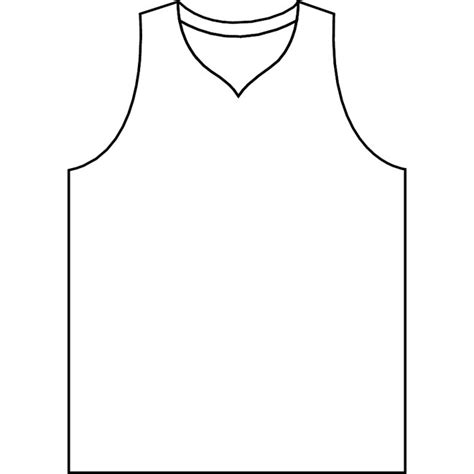 nba jersey coloring pages basketball jersey vector outline download at vectorportal