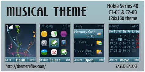 themes for nokia c1 c2 muscial theme for nokia c1 01 c2 00 themereflex