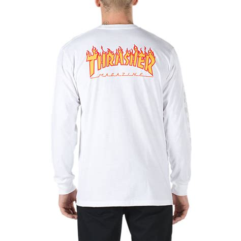 T Shirt Vans 1 vans x thrasher checker sleeve t shirt shop mens tees at vans