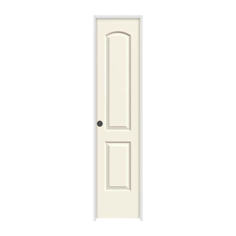 jeld wen 18 in x 83 5 in woodgrain 6 panel unfinished jeld wen 18 in x 80 in molded smooth 2 panel arch french