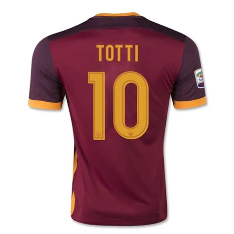 Jersey As Roma Home 2017 18 Farewell Totti Edition As Roma 2015 16 Totti 10 Home Soccer Jersey 1508291447