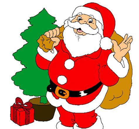 imagenes de santa claus para imprimir a color dibujo de santa claus y un 225 rbol de navidad pintado por