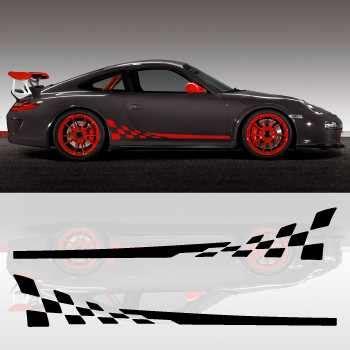 Porsche 997 Gt3 Aufkleber by Kit Stickers Bandes Bas De Caisse Voiture Porsche 911 Gt3 Rs