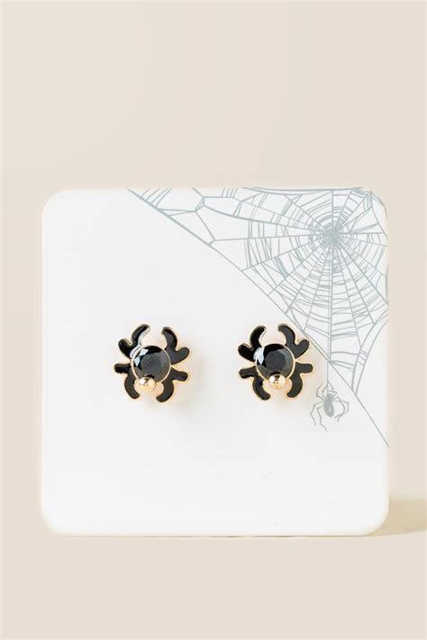 Spider Stud Earrings spider stud earrings in black s