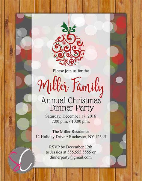 annual invitations 39 printable dinner invitation templates free premium