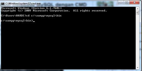 membuat database mysql menggunakan command prompt cara membuat database menggunakan command prompt cmd
